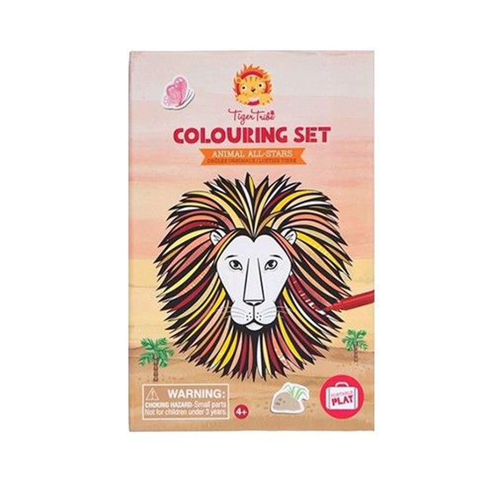 澳洲 Tiger Tribe - 旅行著色盒-獅王派對
