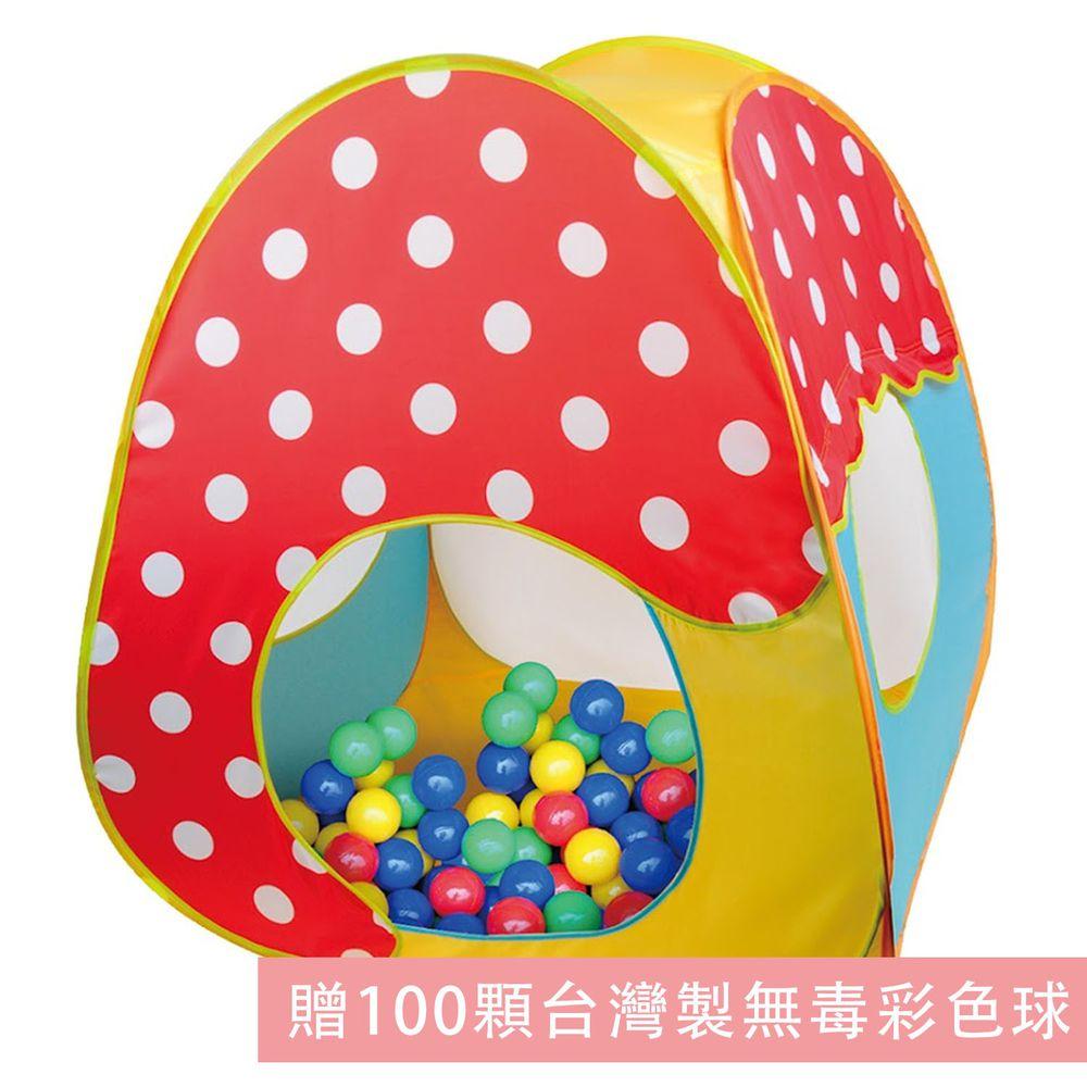 Ching Ching - 蘑菇造型帳篷球屋 CBH-33 (紅色) (贈100顆台灣製無毒彩色球)