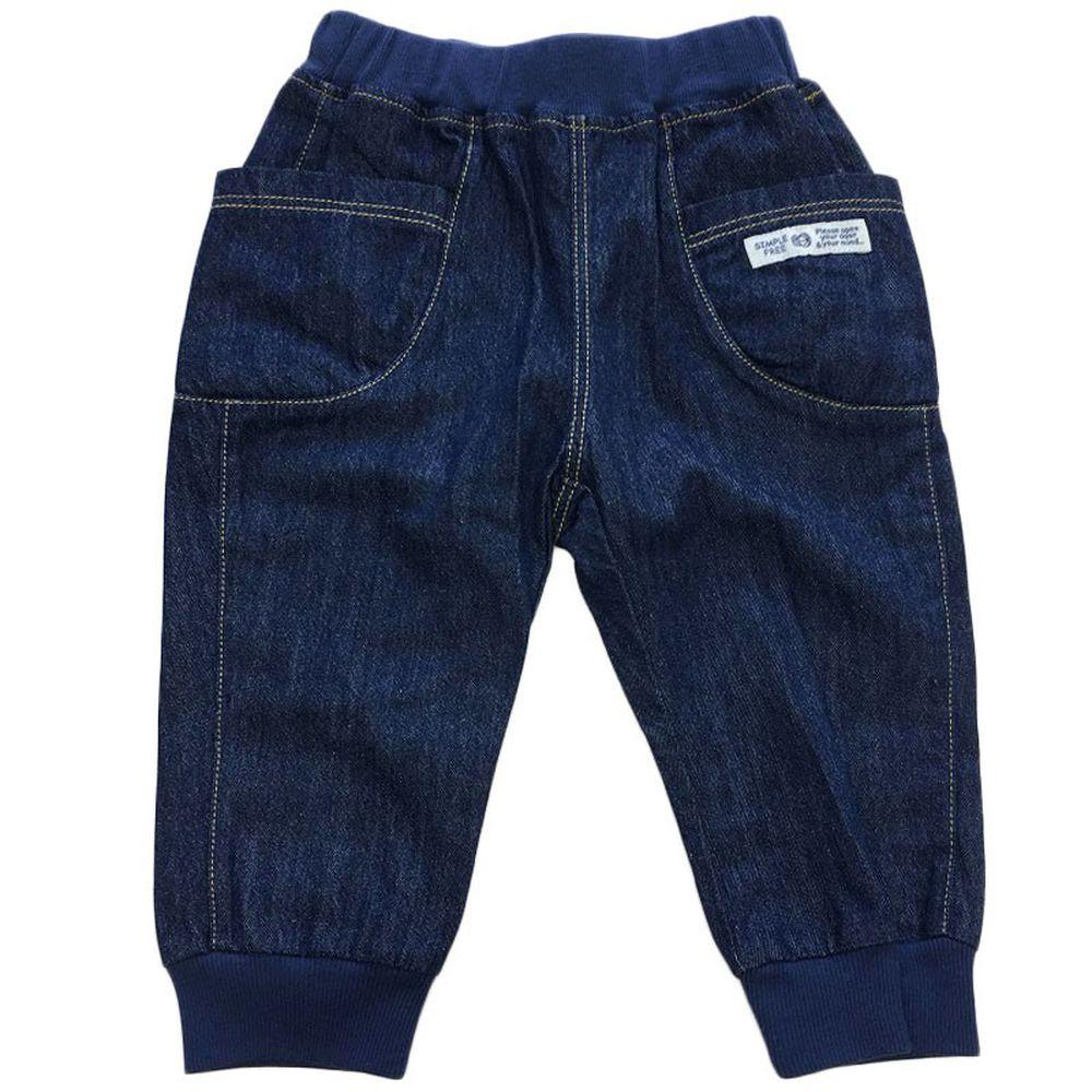 akachan honpo - 男7分馬褲-深藍色