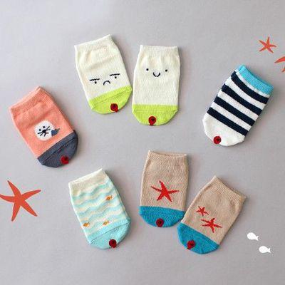 韓國製船型襪-五件組-Beach socks