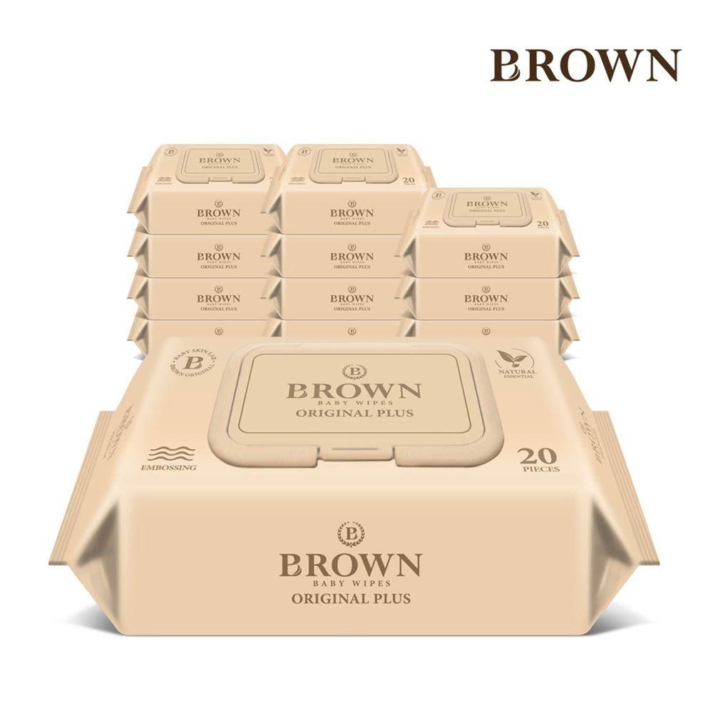 韓國BROWN - ORIGINAL PLUS濕紙巾-洋甘菊20抽(含蓋)*12包