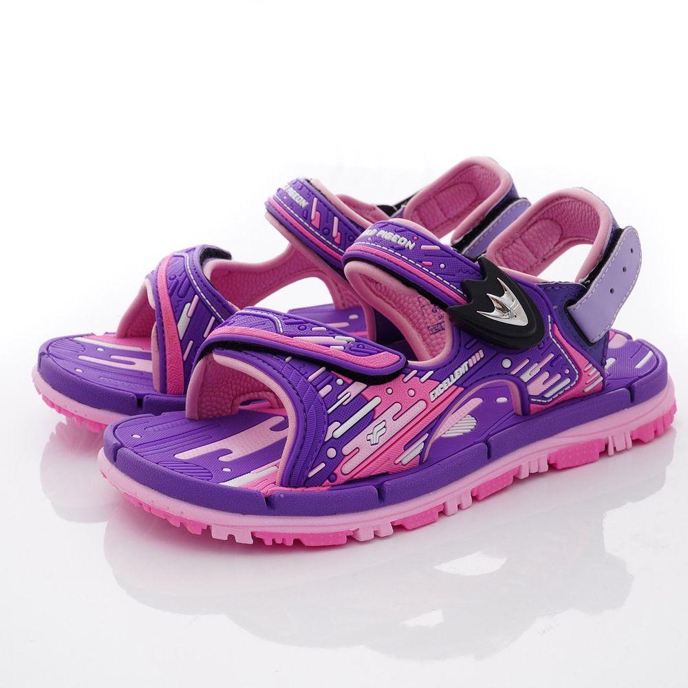 G.P - 運動磁扣兩穿涼拖鞋款(中小童段)-紫