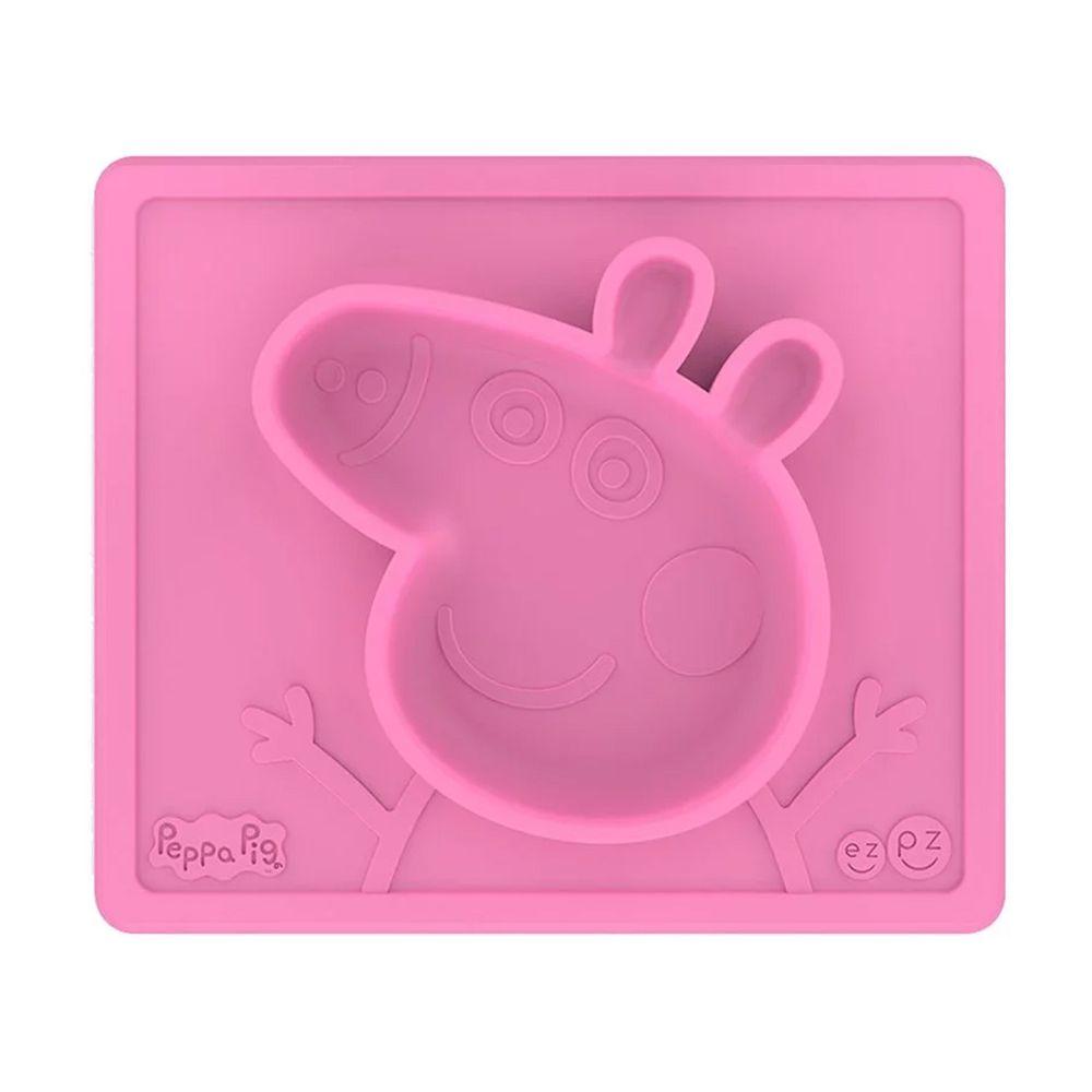 美國 ezpz - Peppa Pig聯名餐盤-餐盤 (28cm*24cm*2.54cm)-300ml