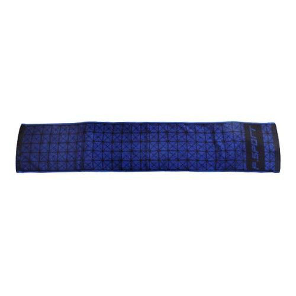 貝柔 Peilou - 天絲棉抑菌運動毛巾_菱格-藍色 (22x115cm)