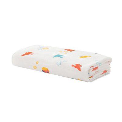 可愛好朋友-小小鳥紗布浴巾 (62x124cm)