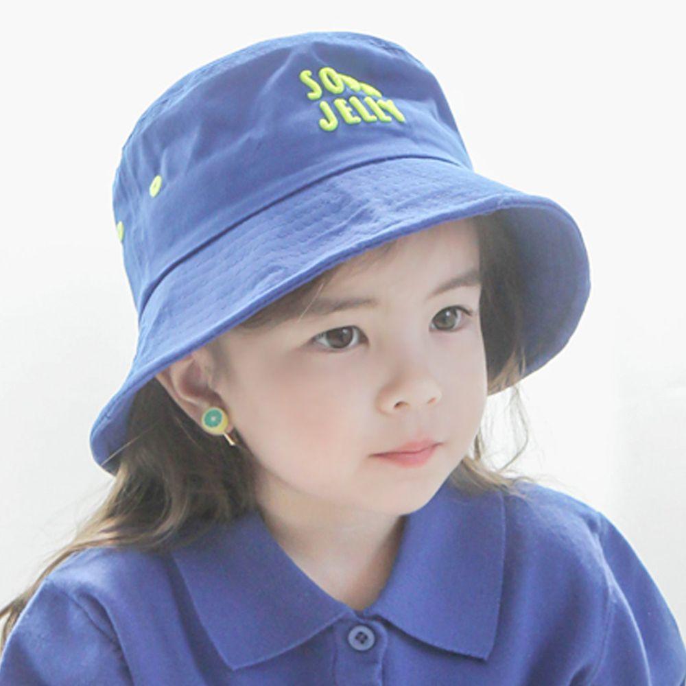 韓國 Babyblee - 活力汽水漁夫帽/遮陽帽-藍 (頭圍:52cm)