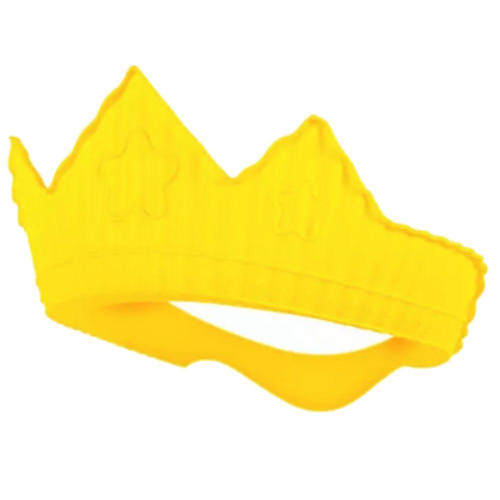 韓國 sillymann - 100%鉑金矽膠皇冠幼兒洗髮帽-黃色 (9個月以上適用)