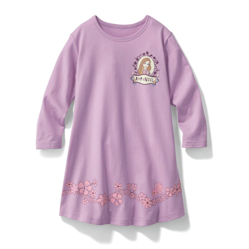 日本千趣會 - 迪士尼印花長袖洋裝-長髮公主-紫