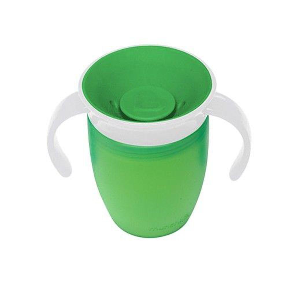 美國 munchkin - 360度防漏練習杯207ml-綠 (6M+)