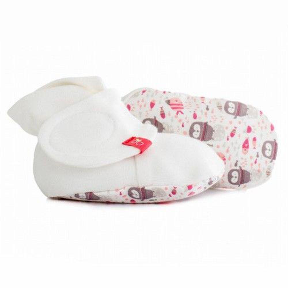 美國 GOUMIKIDS - 有機棉嬰兒腳套-企鵝-粉色