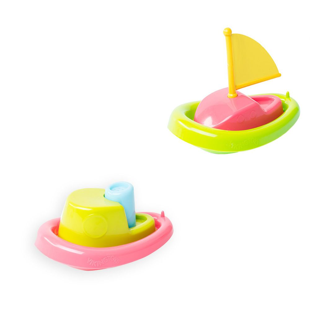 瑞典Viking toys - 【超值組】戲水快艇-15cm+戲水小帆船-15cm
