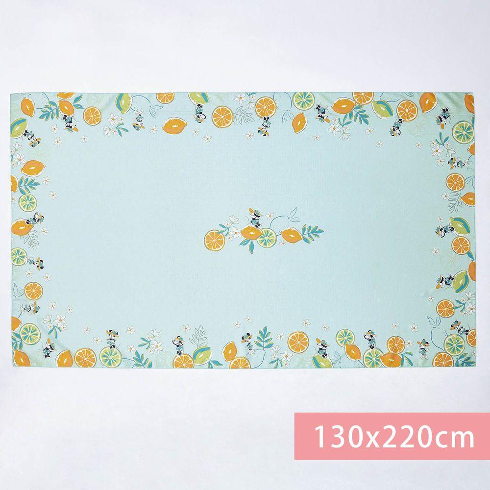 日本千趣會 - 迪士尼防潑水印花桌巾-米妮夏日渡假-水藍 (130x220cm(+NT$800))