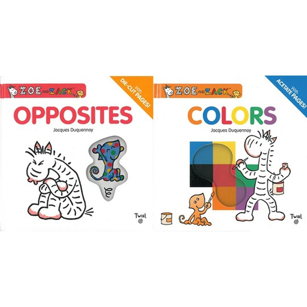 Kidschool - 【合購組】柔伊與扎克:一起玩顏色+一起玩相反