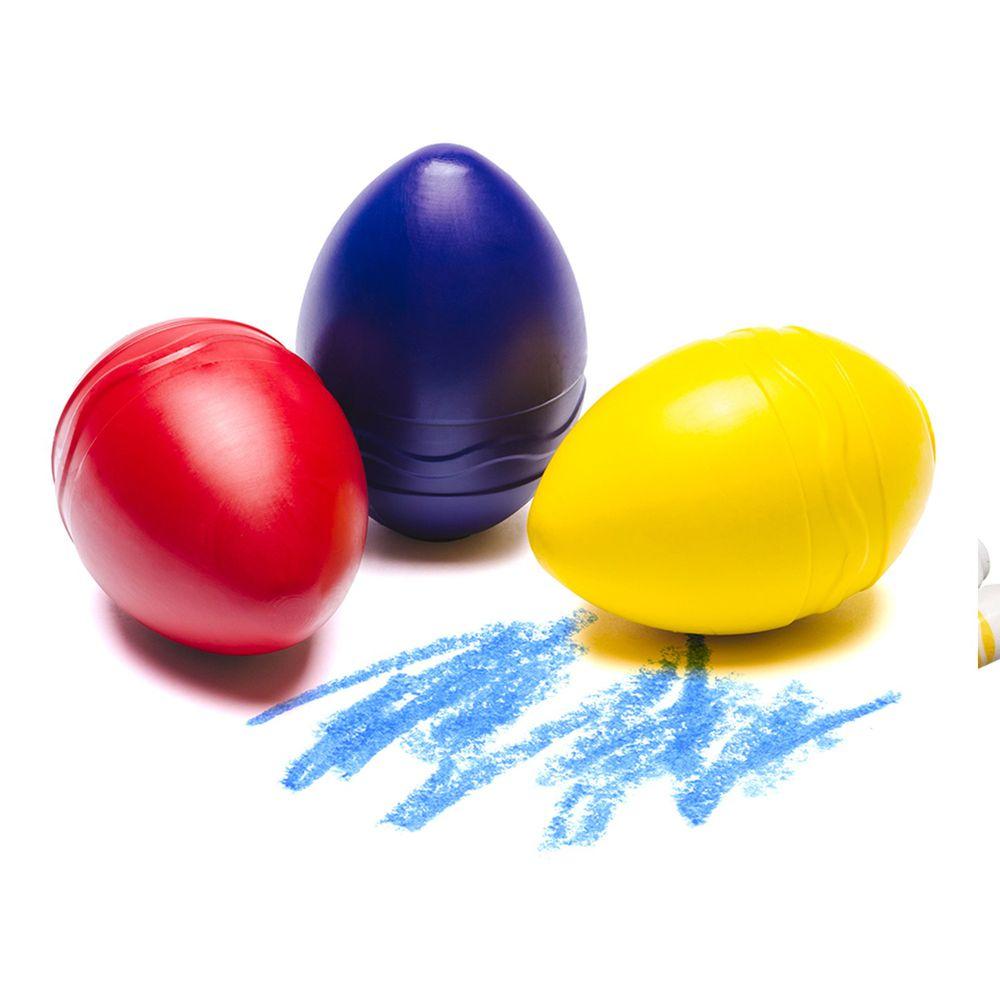 Crayola繪兒樂 - 幼兒可水洗掌握蛋型蠟筆3色(紅黃藍)-12m+
