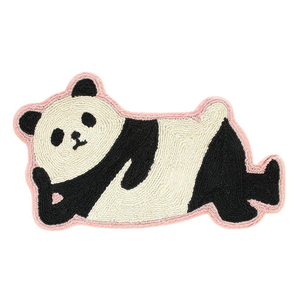 日本 TOMO - 懶洋洋可愛動物腳踏墊-熊貓 (約45.5x76cm)