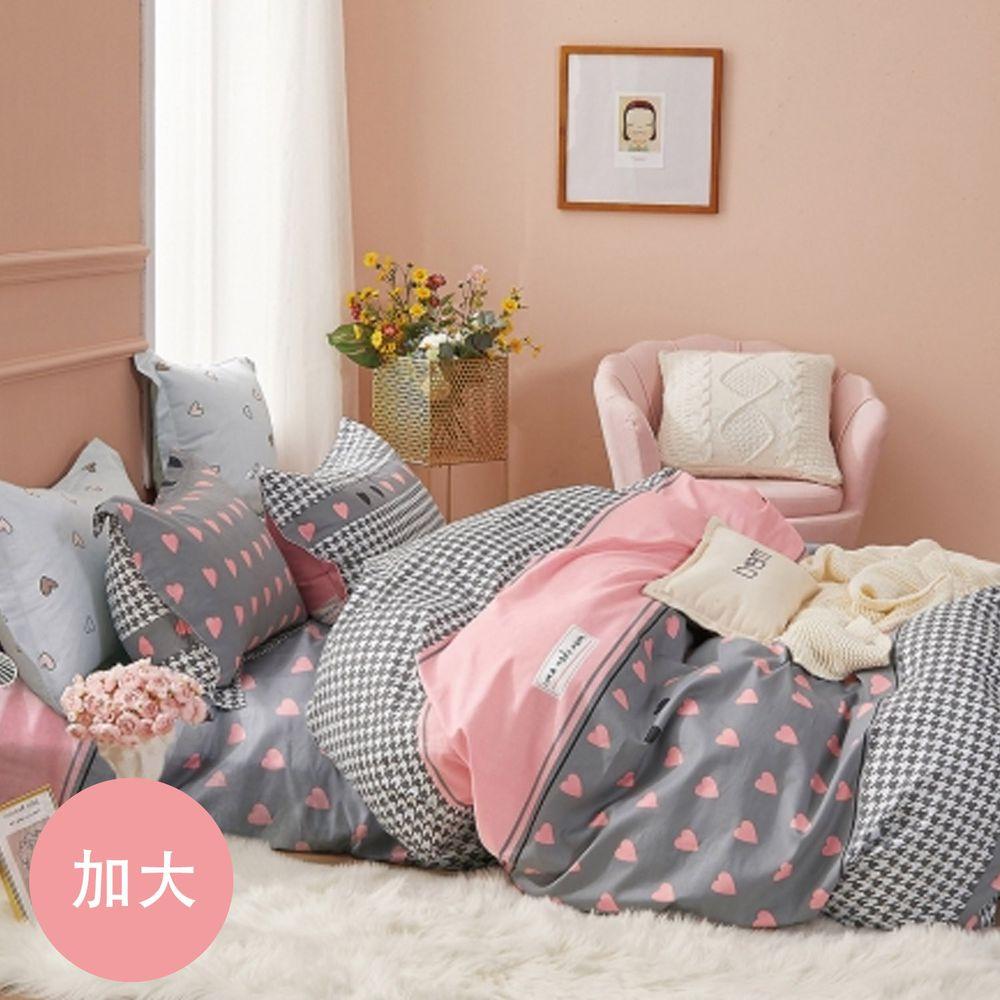 PureOne - 極致純棉寢具組-浪漫莊園-加大三件式床包組