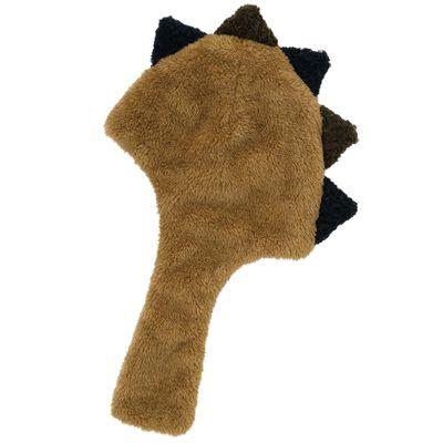 動物造型超柔軟保暖圍脖帽-恐龍-芥末黃綠 (頭圍50-54cm)
