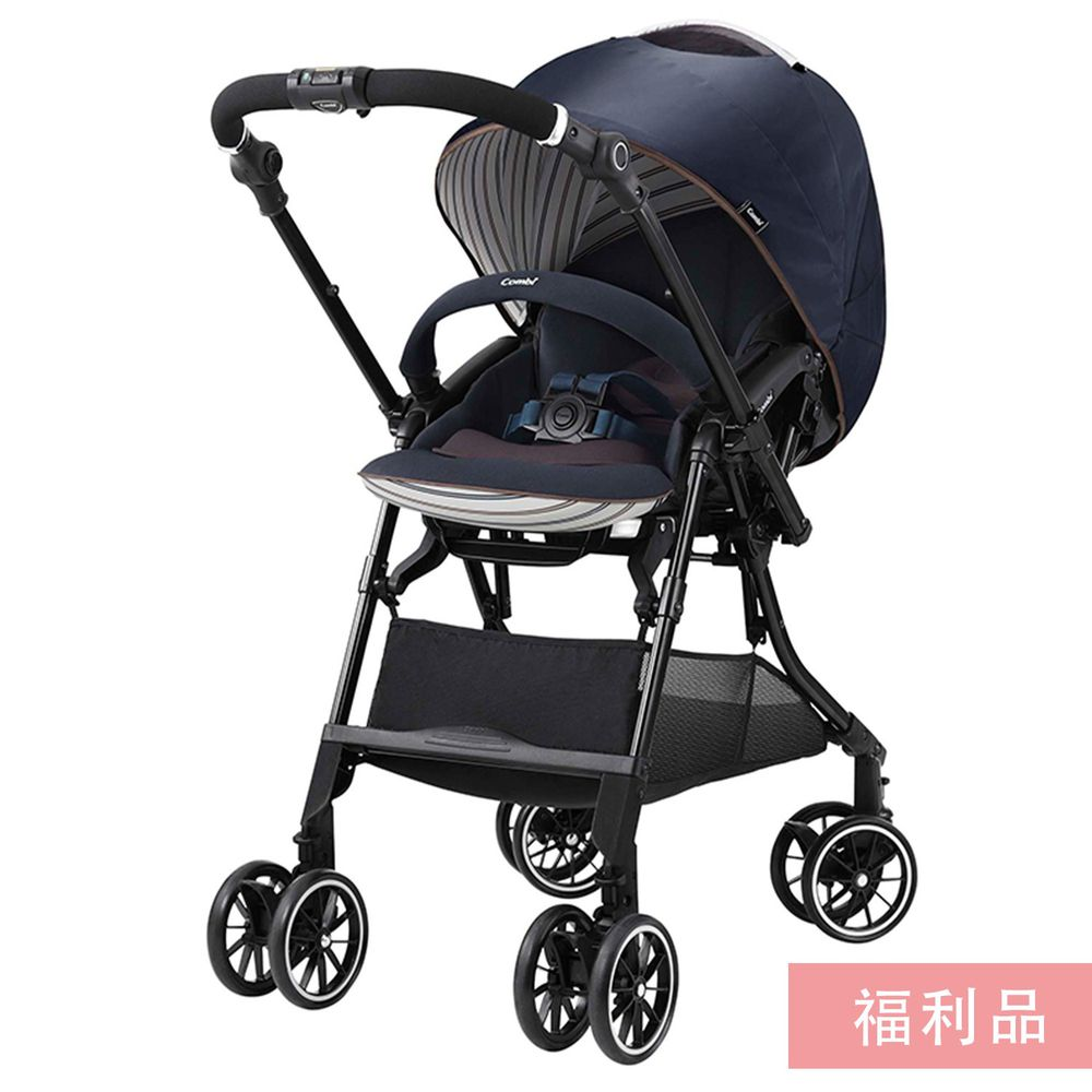 日本 Combi - Sugocal 新進化四輪自動鎖放車款-1個月~36個月(體重15kg以下)-典雅藍-福利品