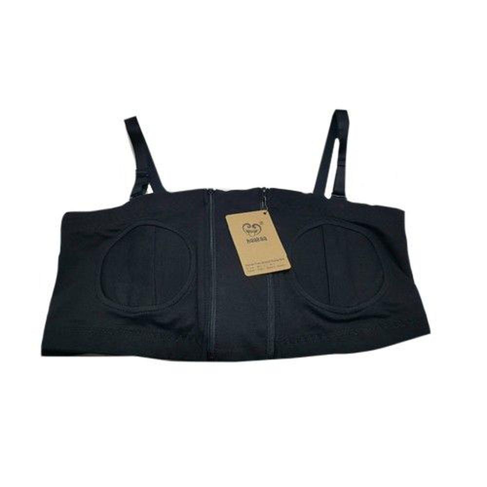 紐西蘭 HaaKaa - 免手持親餵集/擠乳輔助哺乳內衣-黑色