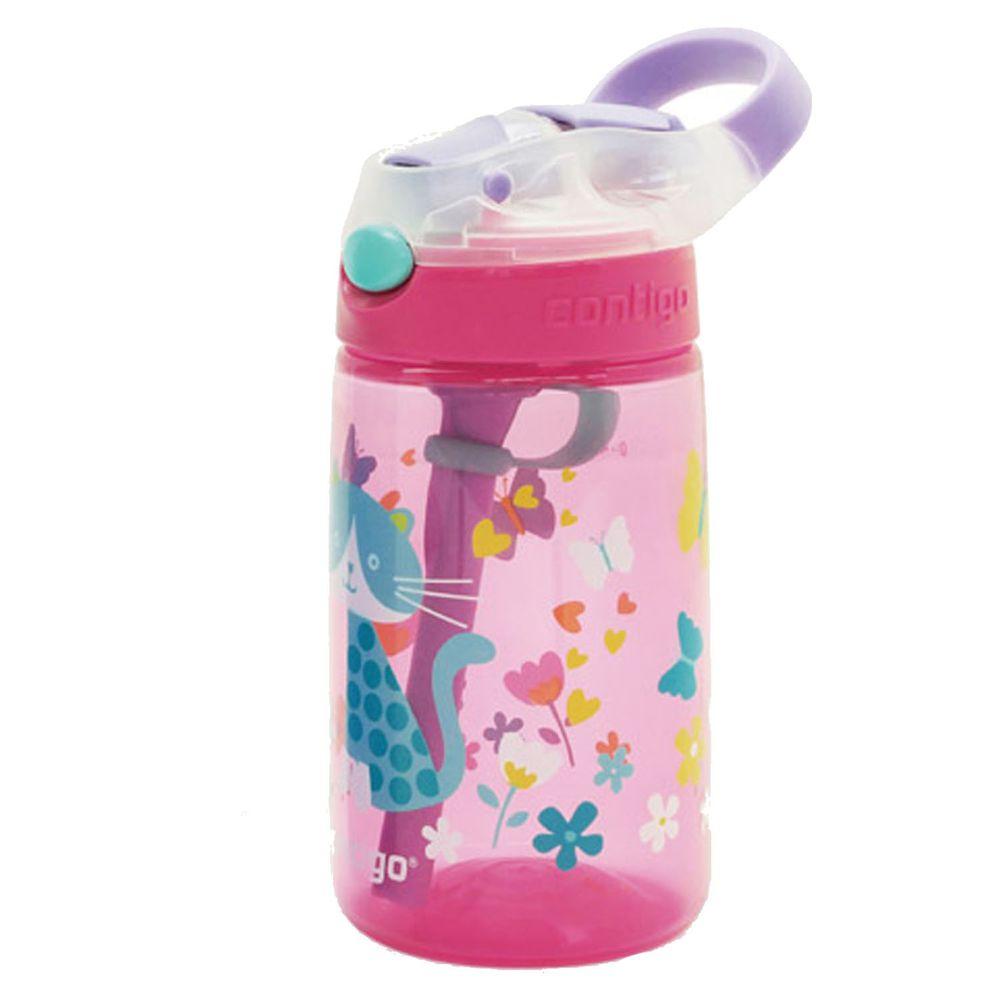 美國 Contigo - Gizmo兒童水壺吸管瓶-貓咪-414cc