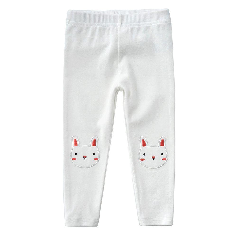 Minizone - 彈性內搭褲-白色小兔