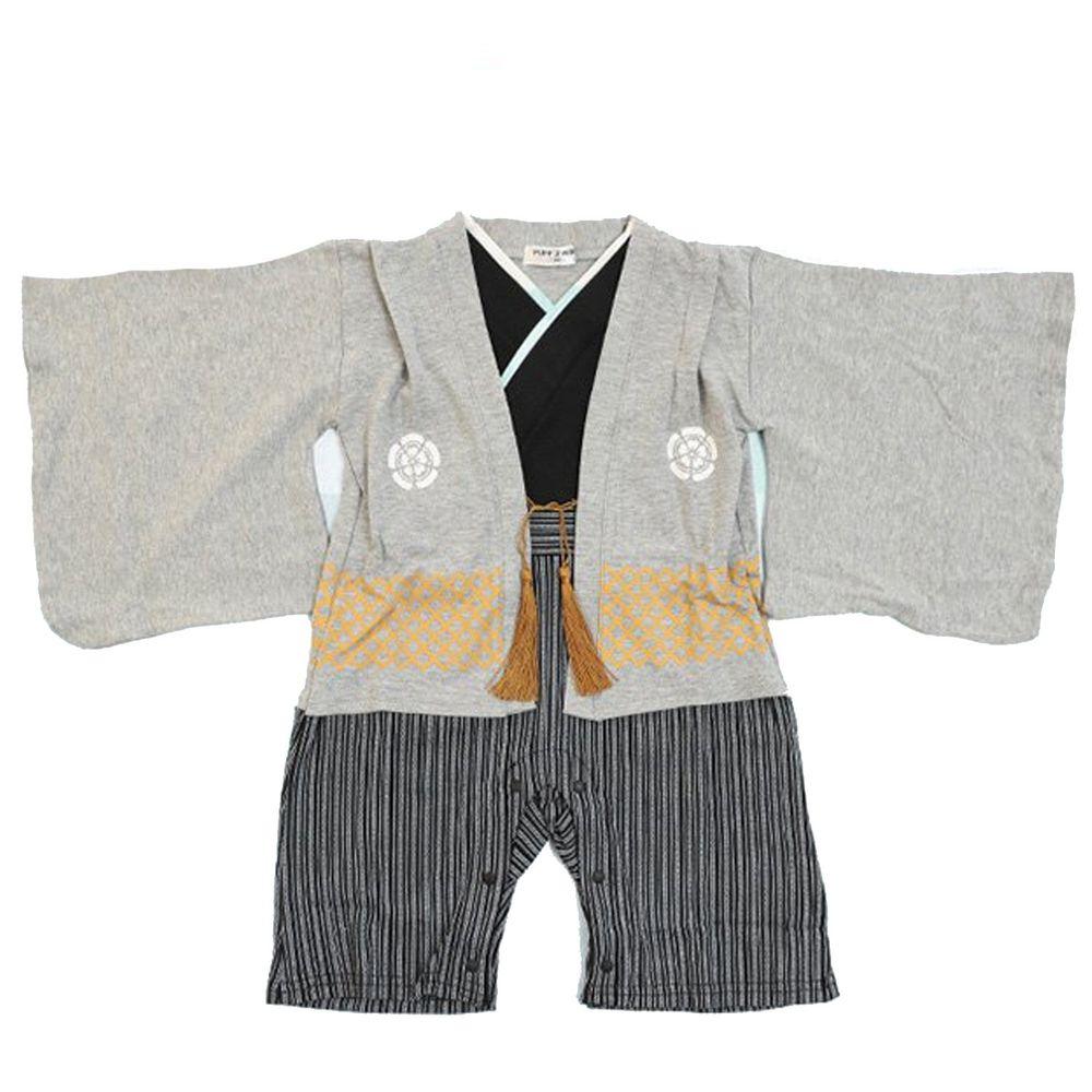 日本服飾代購 - 純棉日本傳統袴 和服(連身衣式)-灰
