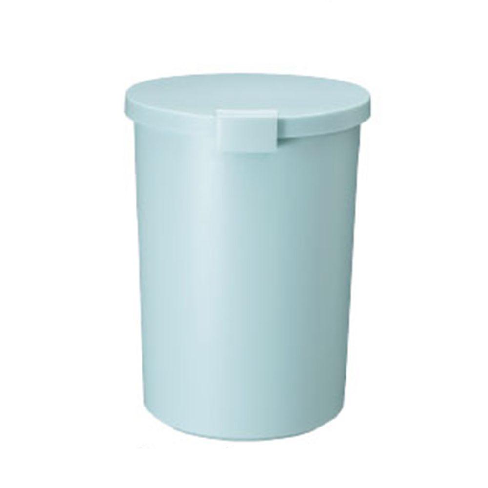 日本岩谷Iwatani - 日本製圓形可分類密封防臭垃圾桶-12.4L-藍