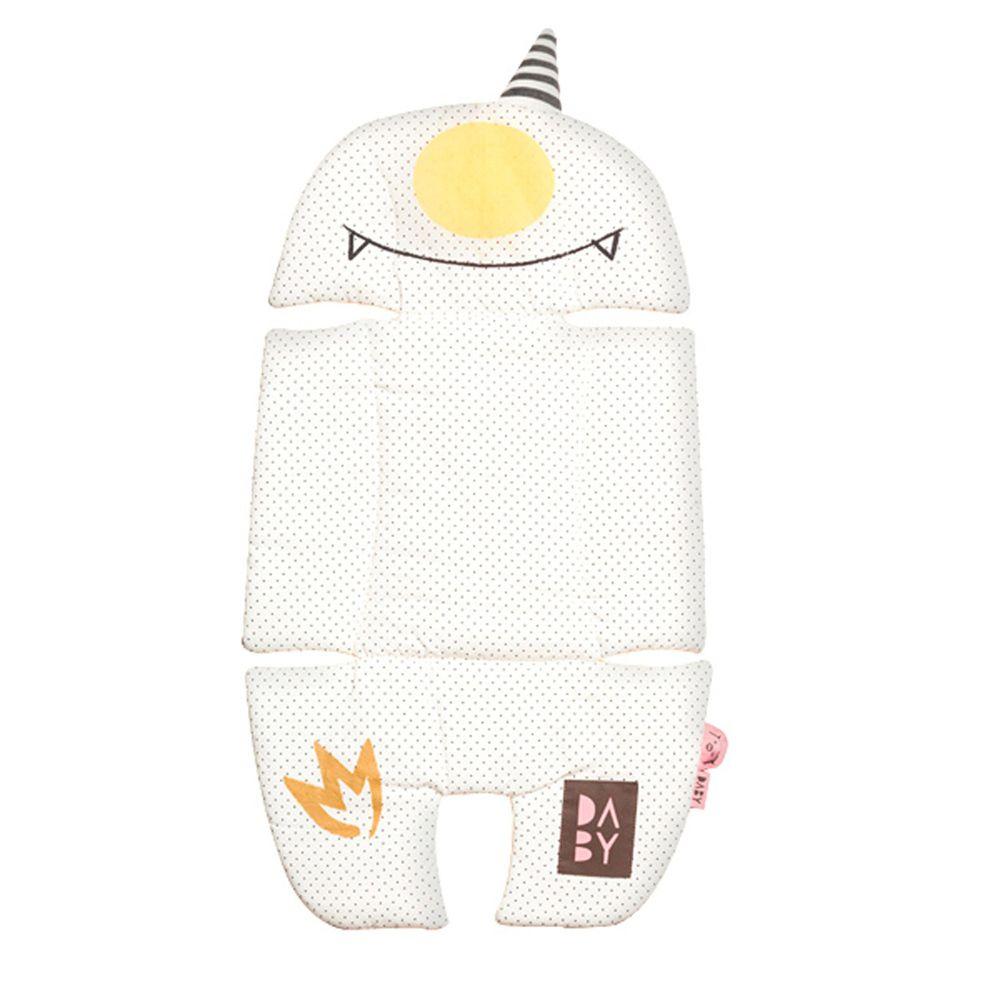 韓國Daby - 【升級版】小怪獸推車汽座兩用透氣墊-蛋頭Eggy(白色)
