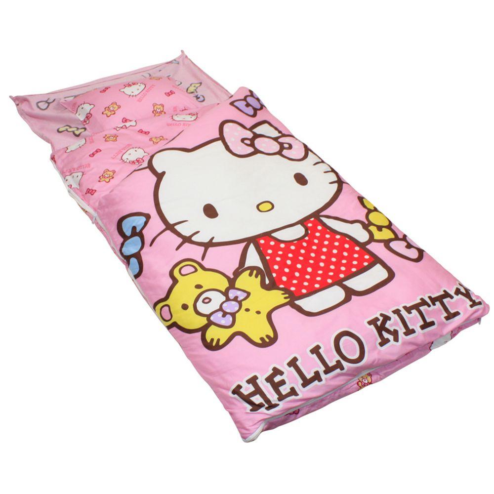 鴻宇HONGYEW - 100%美國棉鋪棉兩用兒童睡袋-小熊Honey-粉色 (135x150 cm)