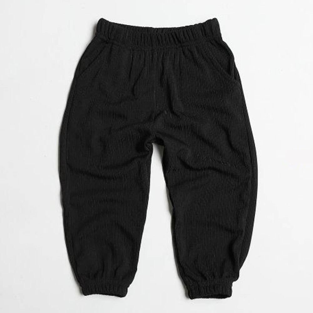 韓國製 - 涼感防曬防蚊縮口褲-黑