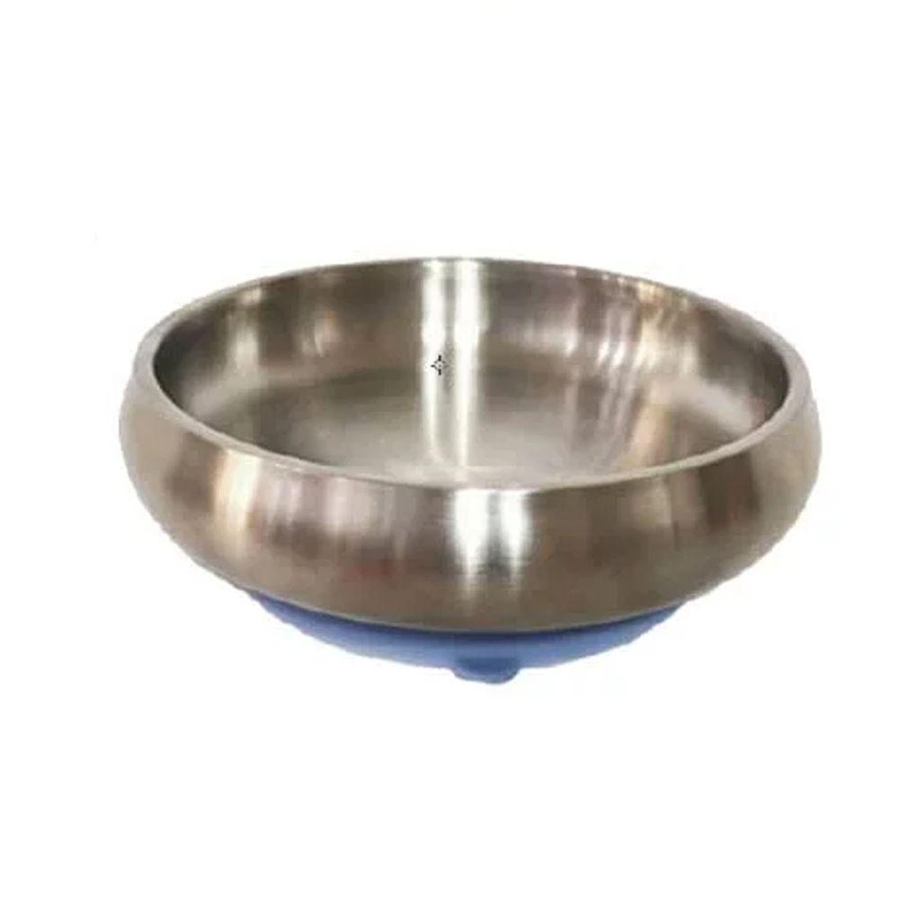 美國little.b - 316雙層不鏽鋼寬口麥片吸盤碗-宇宙藍-(碗*1, 吸盤*1)