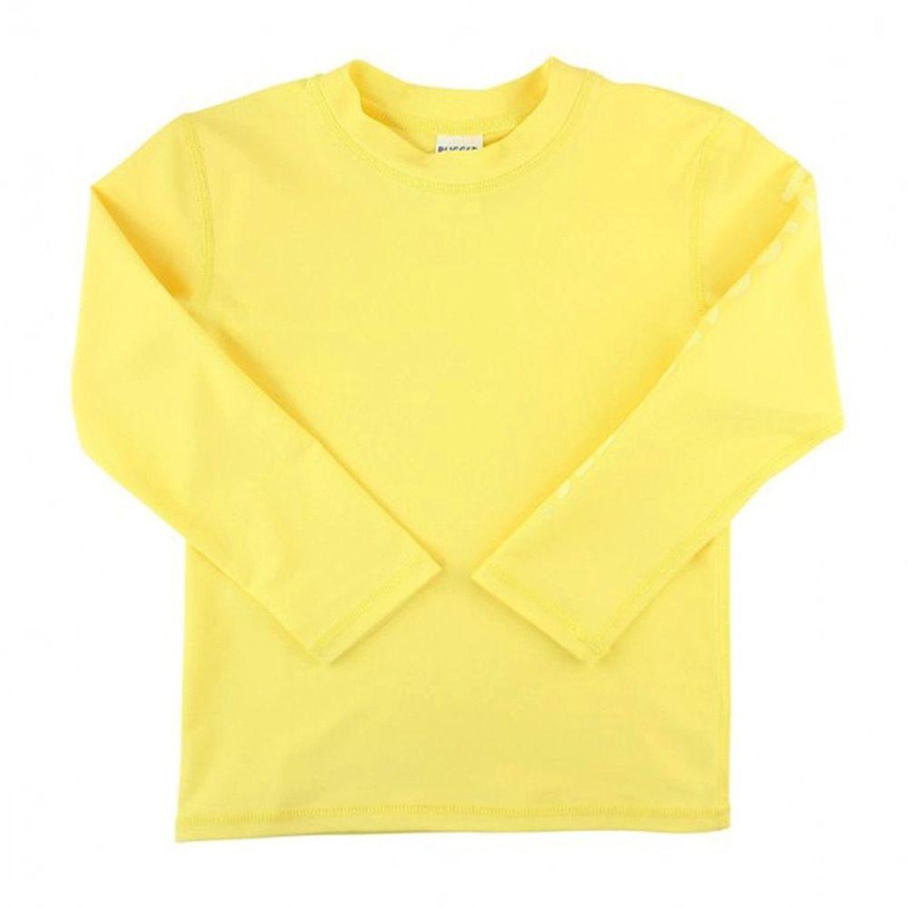 美國 RuffleButts - 小男童UPF 50+防曬長袖泳衣-檸檬黃