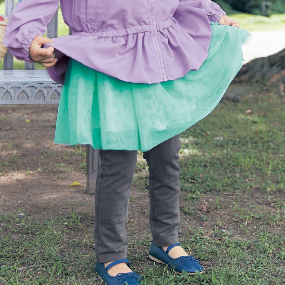 日本千趣會 - 迪士尼碎花薄紗內搭褲裙-小美人魚-薄荷X灰