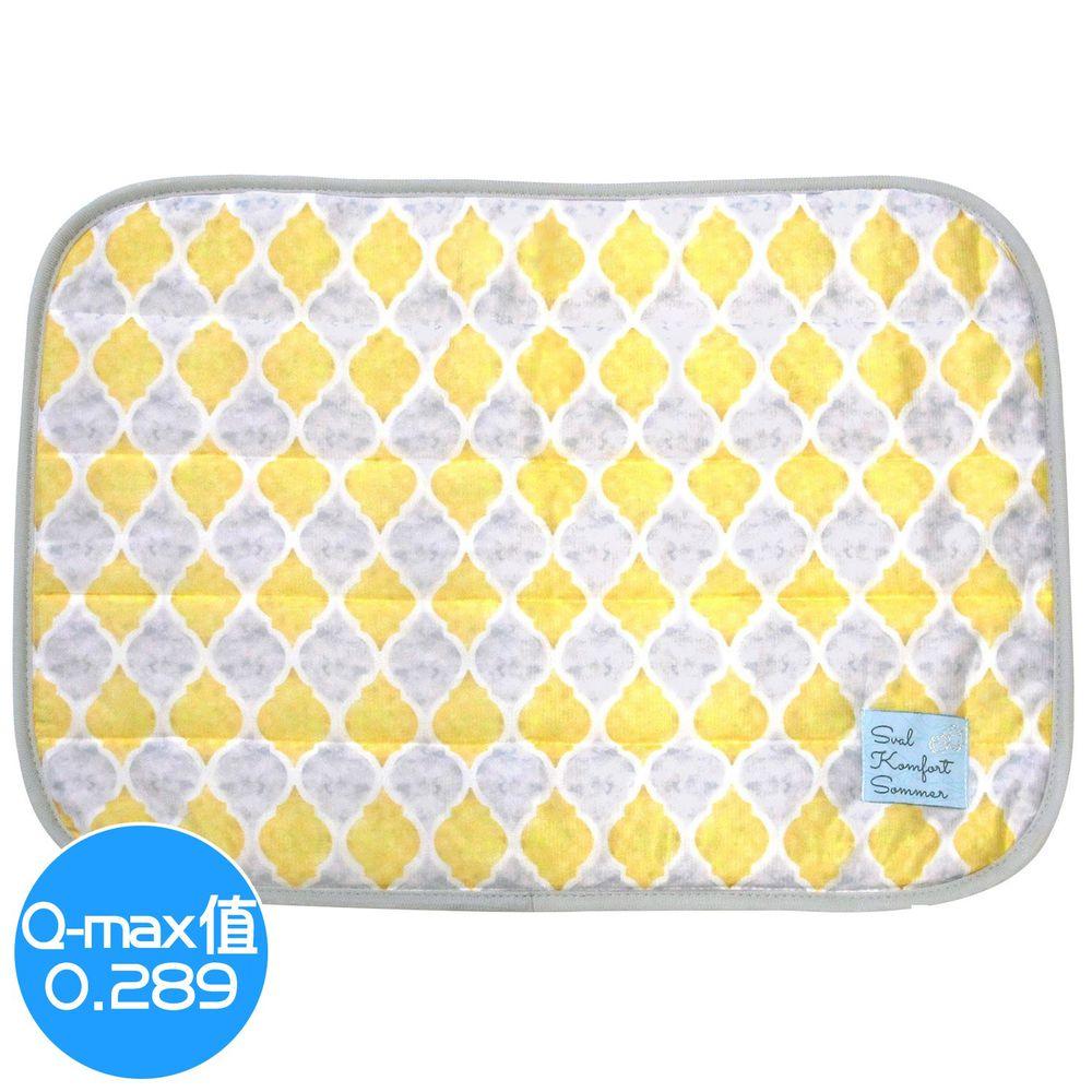 日本 DAIKAI - 接觸涼感枕頭套-菱格-黃 (50x37cm)