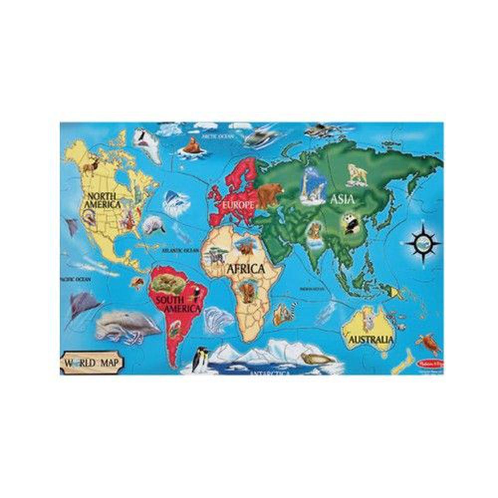 美國瑪莉莎 - MD 地板拼圖-世界地圖-33片
