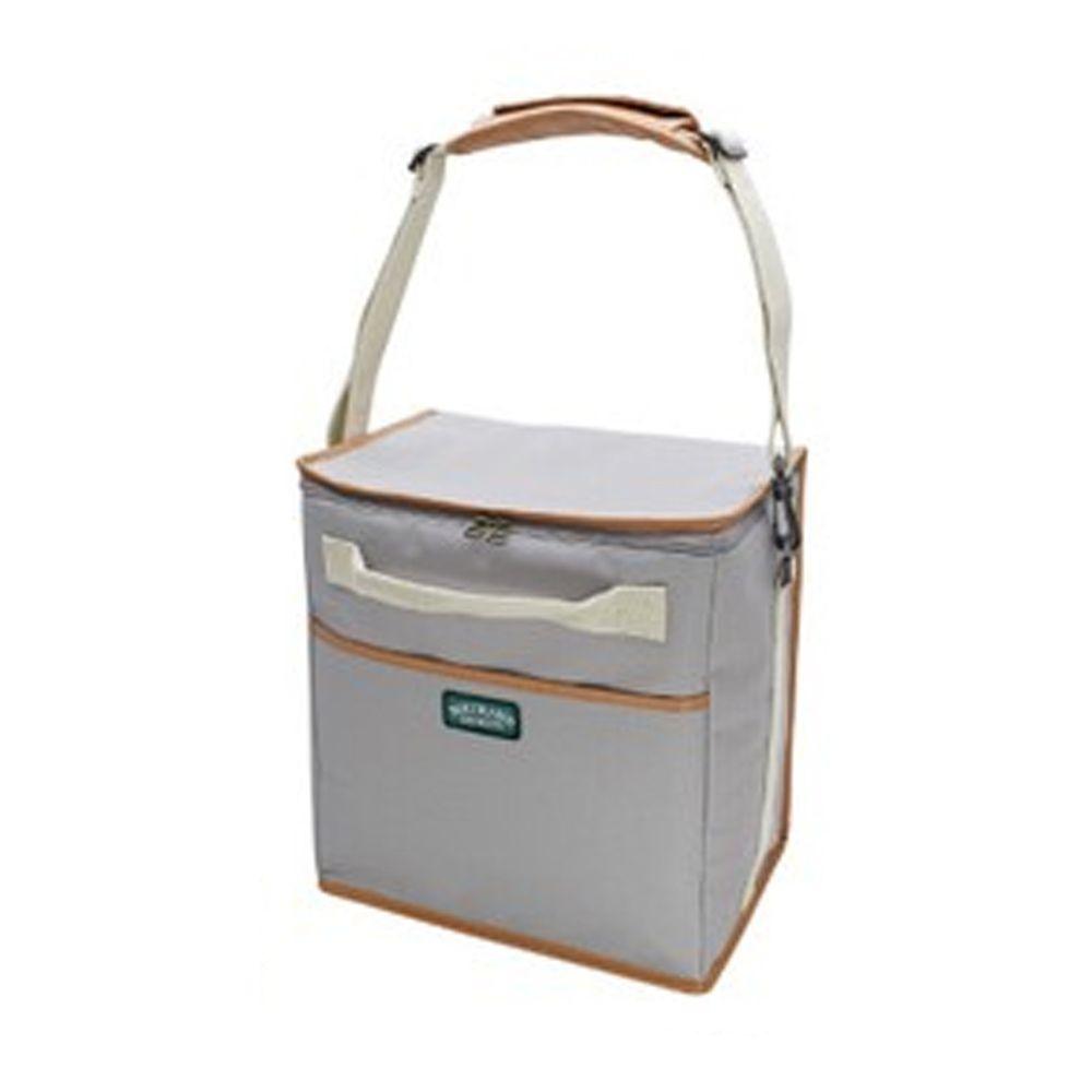 日本現代百貨 - 立體方形 保溫保冷袋/購物袋-20-淺灰 (30x20x32cm)