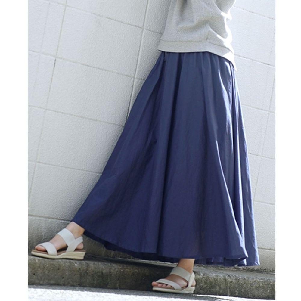 日本 zootie - 100%印度棉舒適傘狀長裙-海軍藍 (Free)