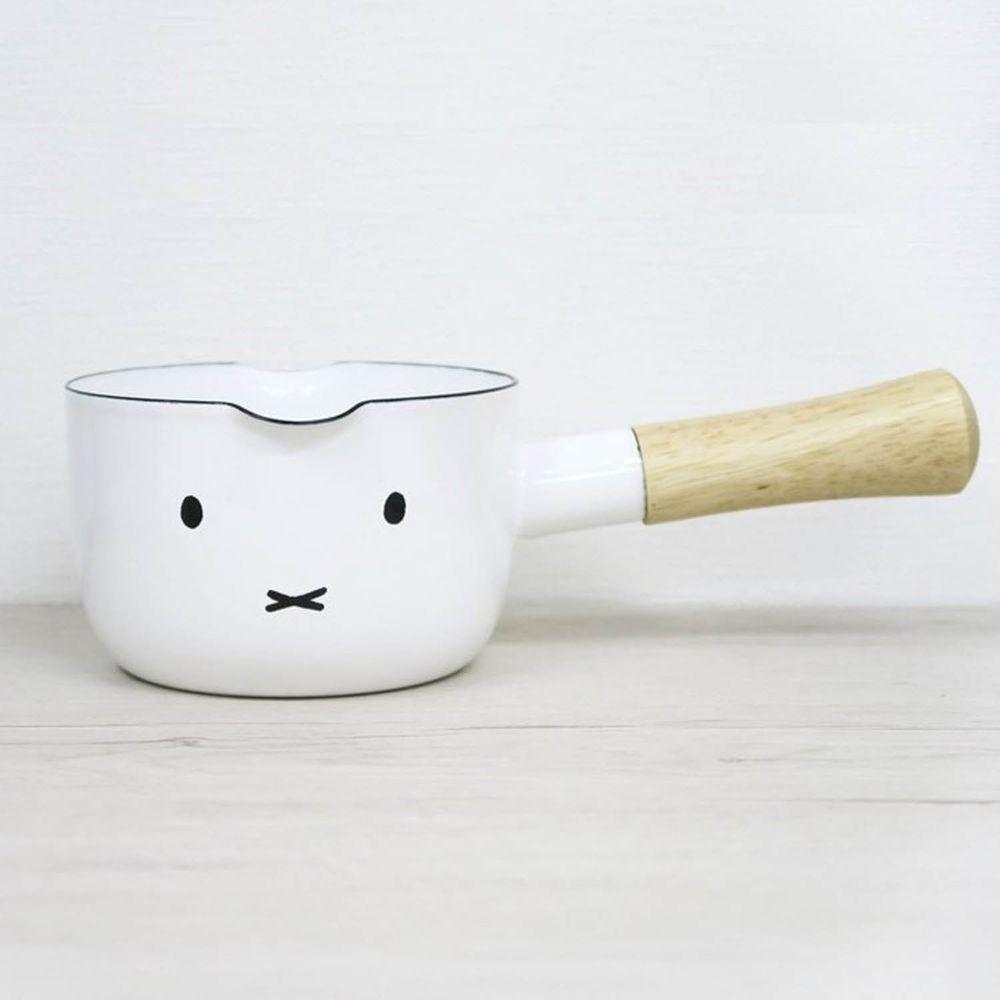FUJIHORO 富士琺瑯 - 米菲兔系列-12cm琺瑯牛奶鍋-容量:0.80L 重量:0.5kg