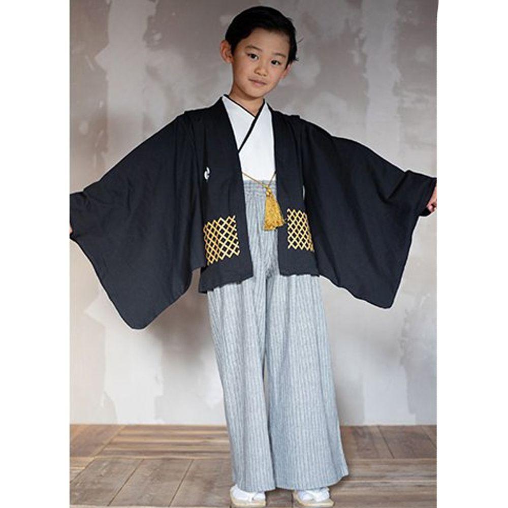 日本服飾代購 - 純棉日本傳統袴 和服(三件式)-黑