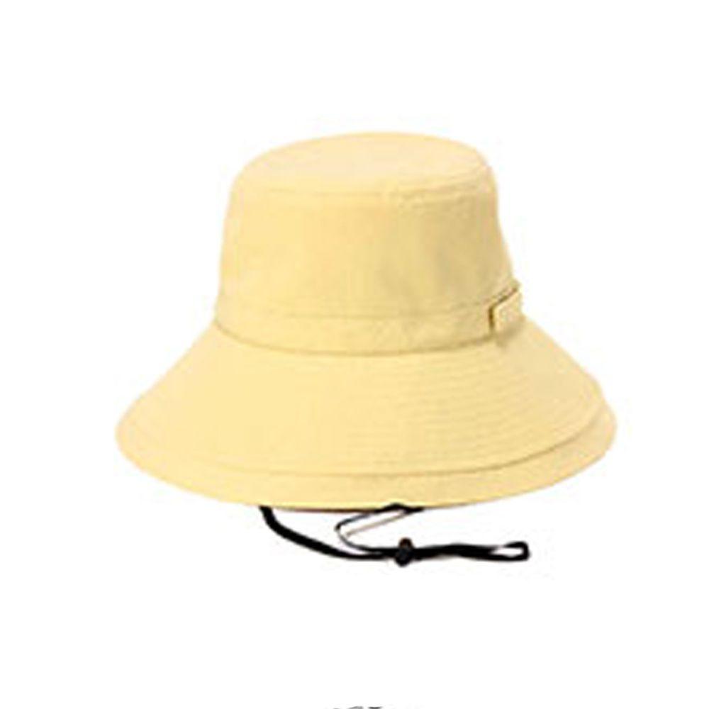 日本服飾代購 - 【irodori】抗UV可捲收遮陽帽(附防風帽帶)-暖陽黃-純棉