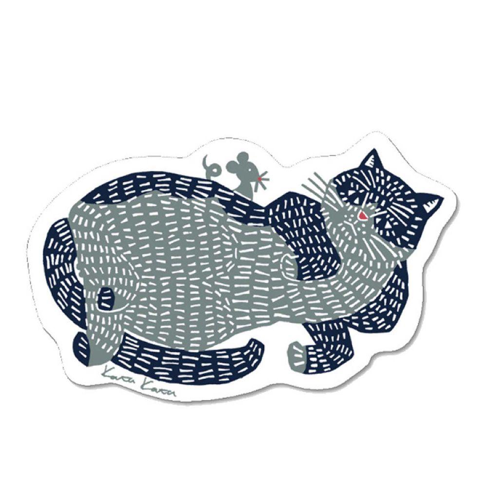 日本代購 - 日本製 北歐風環保吸水海綿菜瓜布-kata kata 慵懶小貓