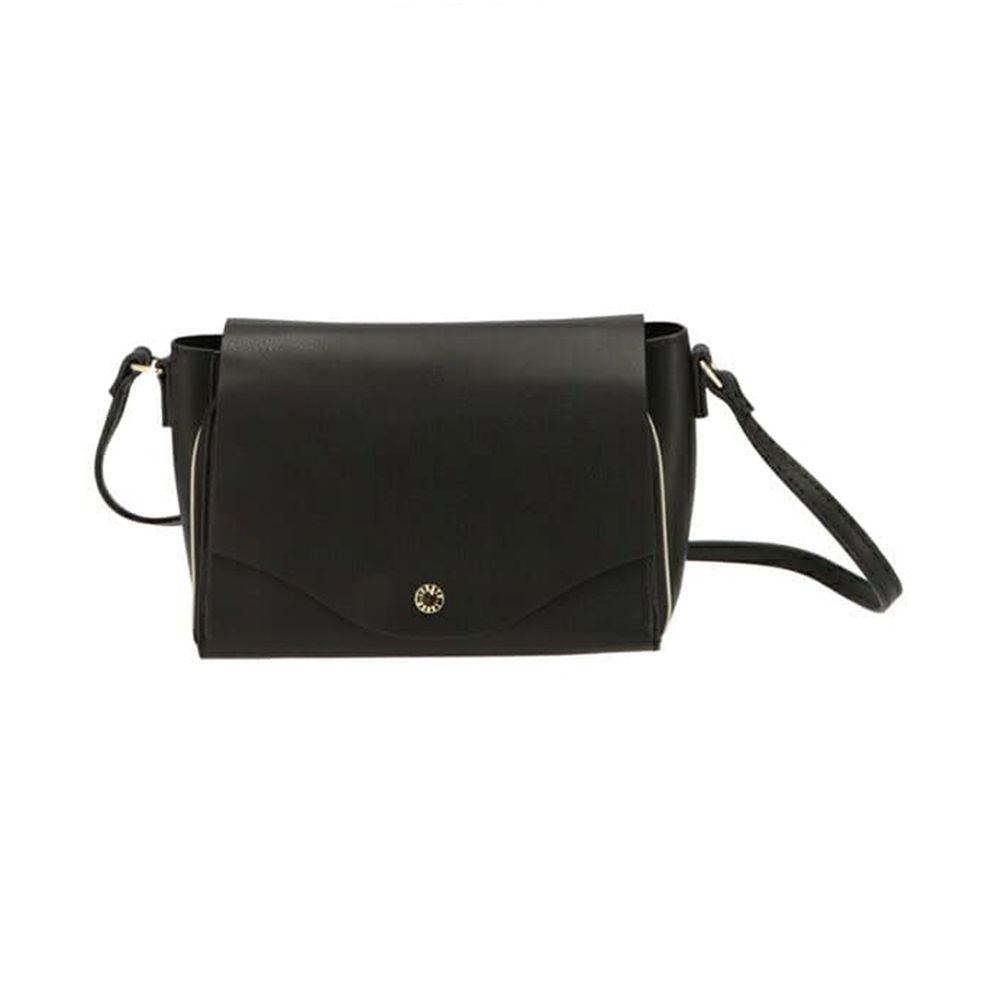 日本 Legato Largo - 輕量PU時尚皮革錢夾包-BK黑色 (23x14x8.5cm 肩背約95~129cm)
