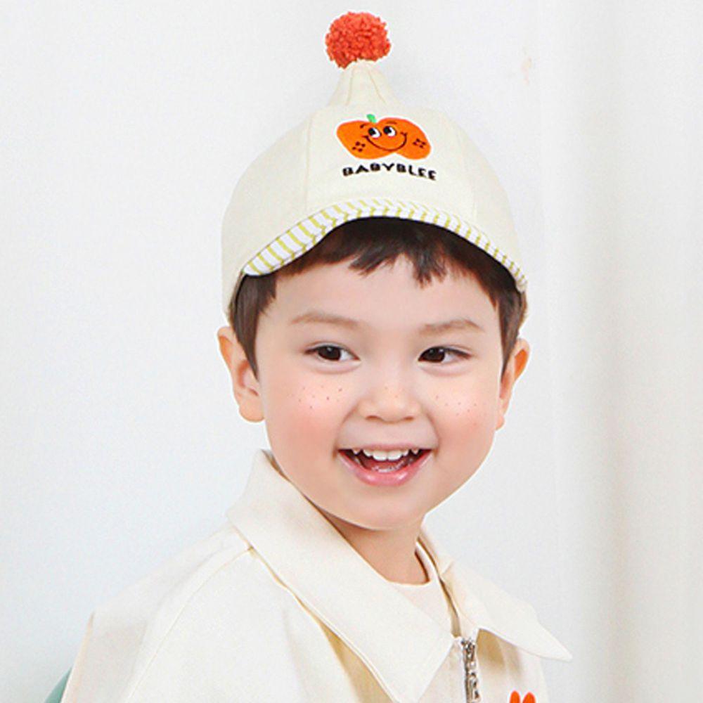 韓國 Babyblee - 小精靈水果棒球帽-米白
