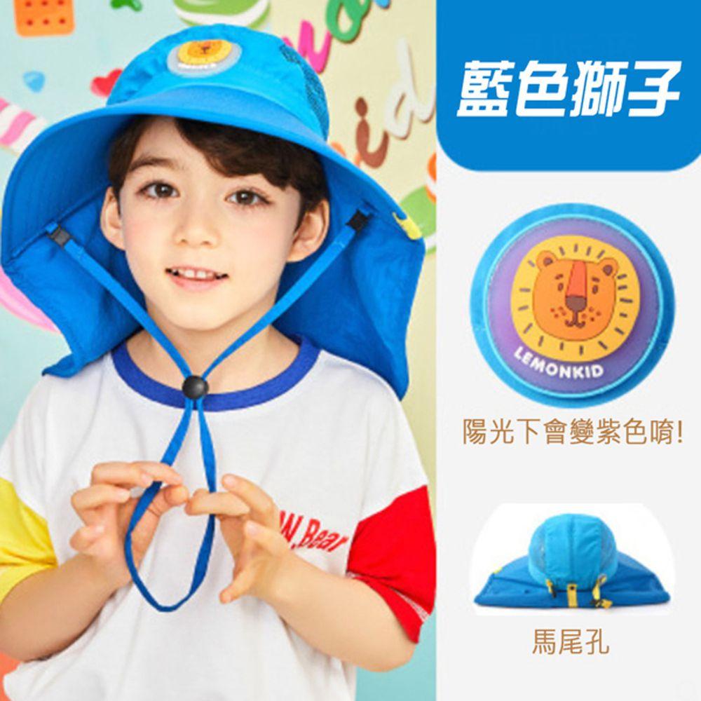 韓國lemonkid - 夏日遮陽帽-藍色獅子
