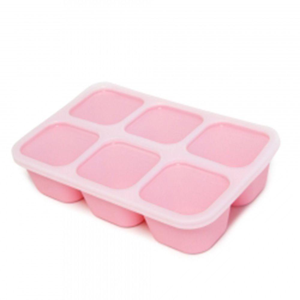 MARCUS&MARCUS - 動物樂園造型矽膠副食品分裝保存盒-粉色