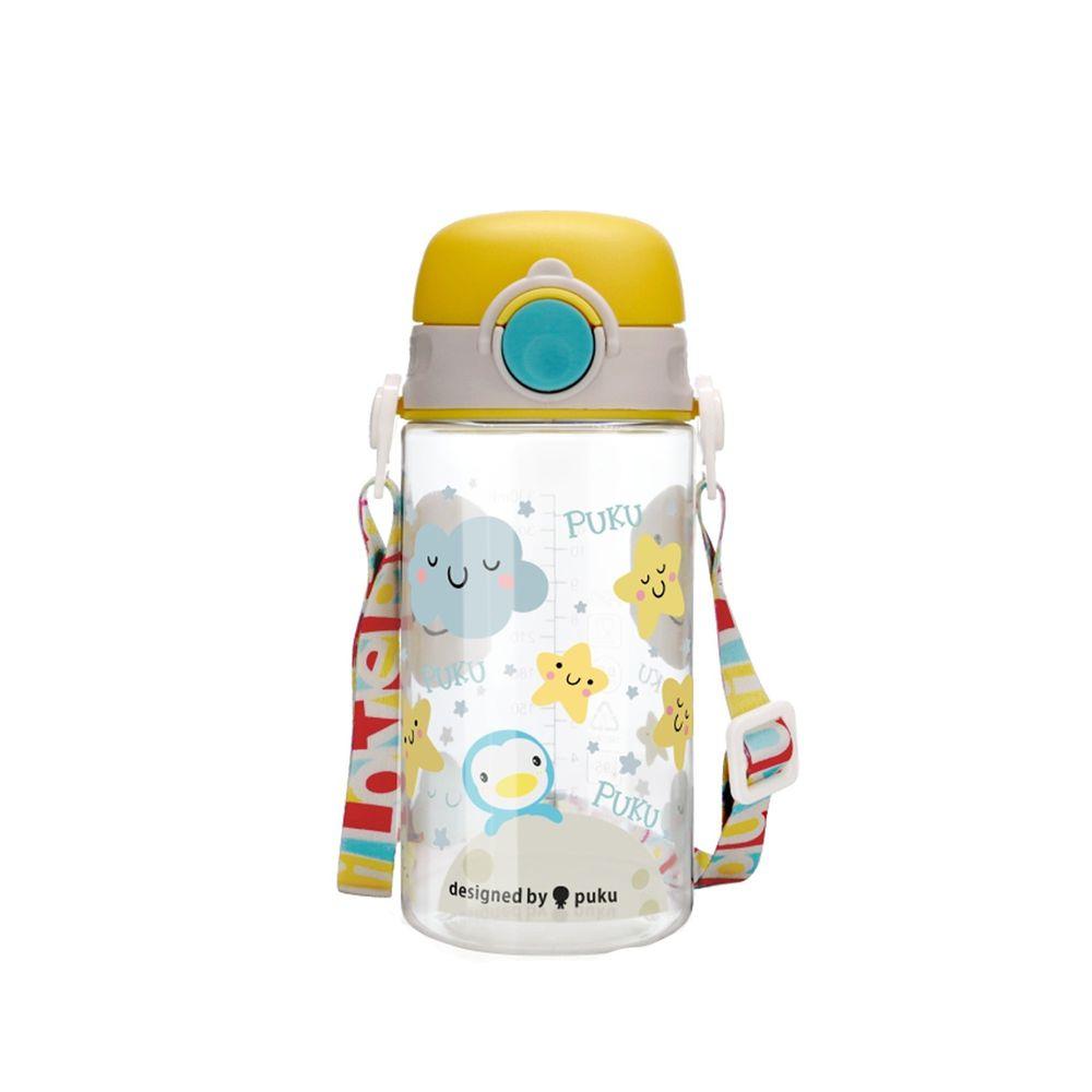 PUKU 藍色企鵝 - Tritan直飲水壺-星星黃-330ml