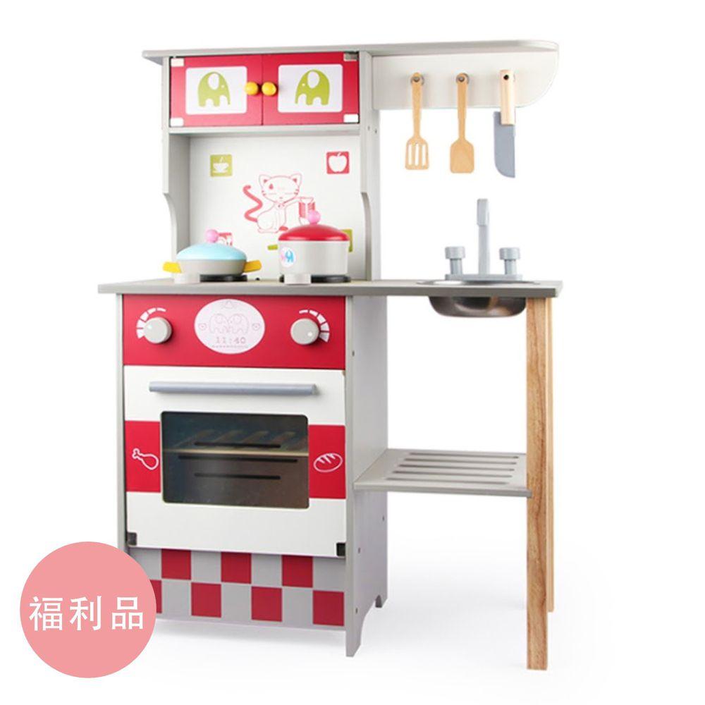 Ching Ching - 福利品-美式廚房木製玩具組 MSN17062