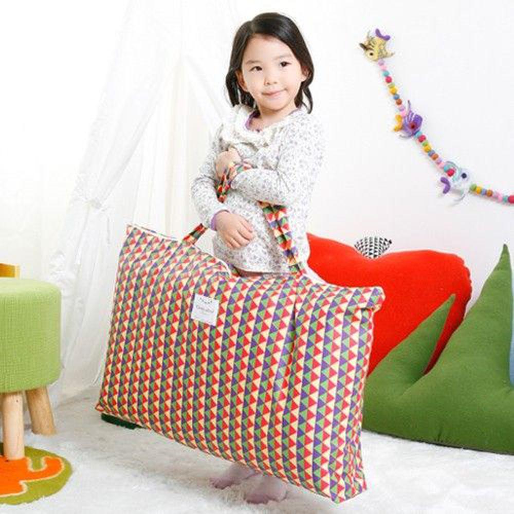 韓國 Coney Island - 防水睡袋收納袋(純棉內裏)-幾何三角形-彩虹 (77.5*42.5*11cm)