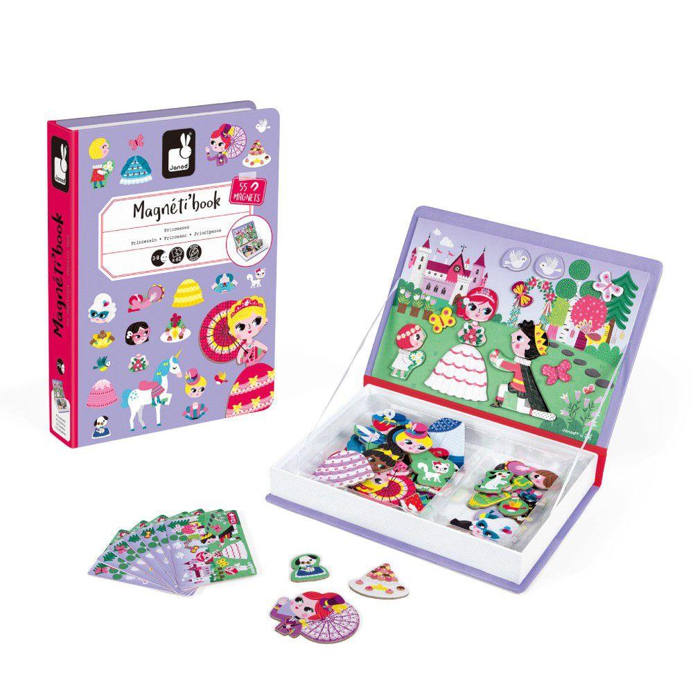 Janod - 磁鐵遊戲書-公主與王子