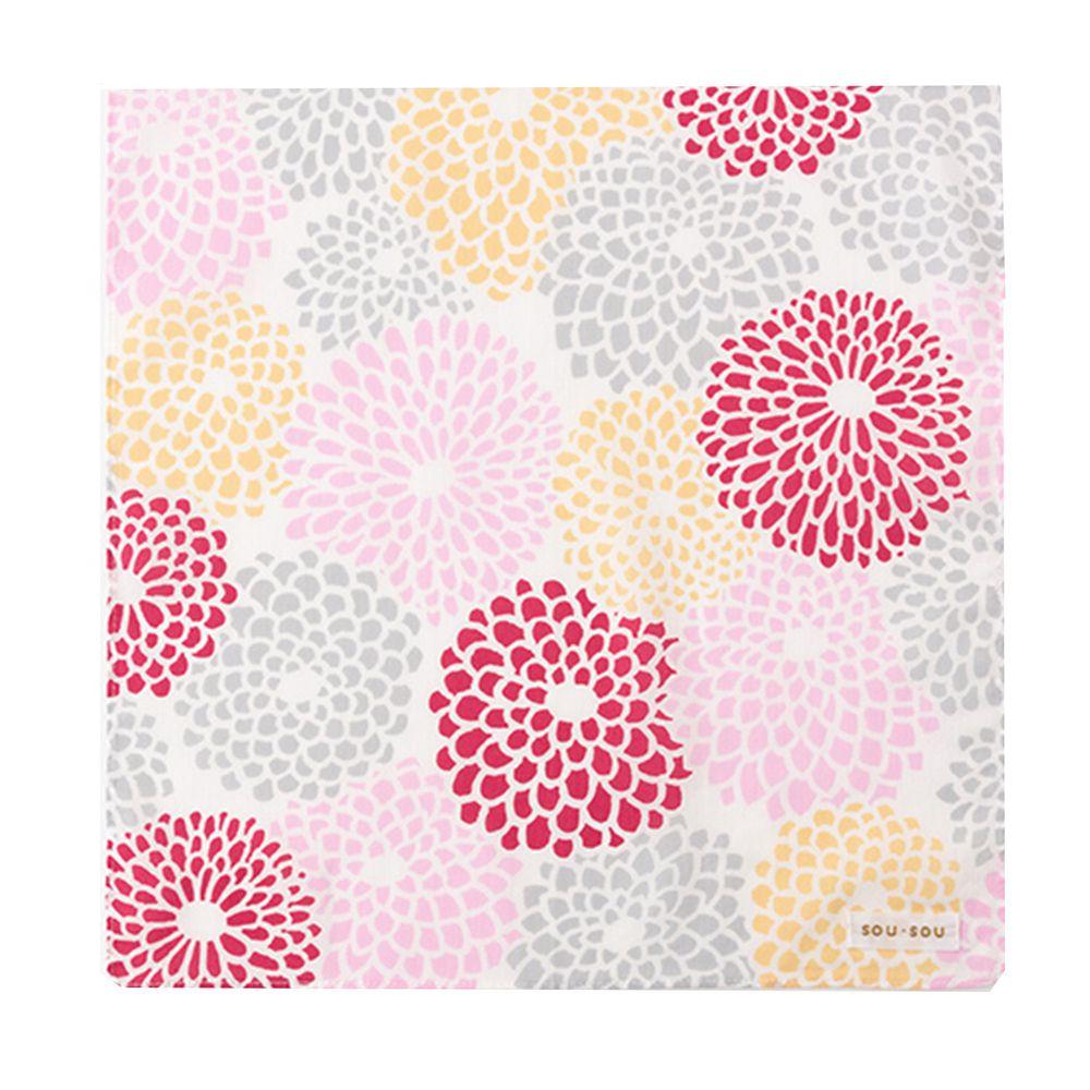 日本代購 - 【SOU·SOU】日本製今治純棉紗布手帕-綻放 (30x30cm)